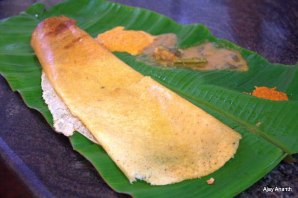 Ghee Dosa at Swamy Hotel Hiriyur