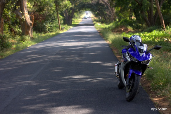 Touring on a Yamaha YZF-R3 in India, Malur karnataka